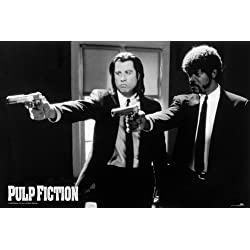 Empire 294005 Pulp Fiction - Guns - FilmMax i-Poster, Druck, Kino Movie Quentin Tarantino Uma Thurman John Travolta, 91.5 x 61 cm