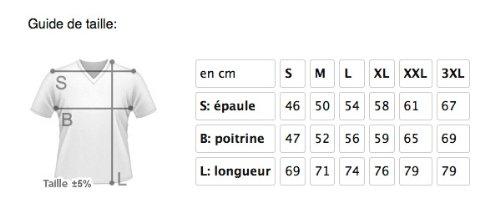 style3 WM Brasilien Fußball T-Shirt für Herren in verschiedenen Farben S-3XL Weiß