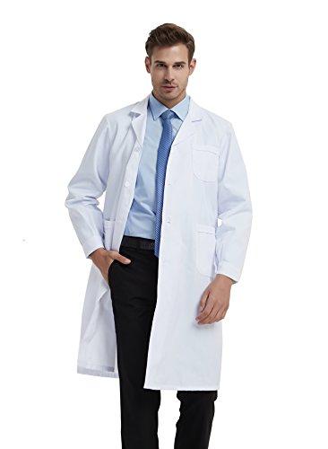 BSTT Herren Laborkittel Weiß Medizin Arbeitskleidung Uniformen-2018 verbesserungl dünnes S