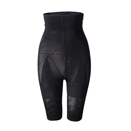 Mujer faja reductora pantalones adelgazamiento ropa interior SS-W02 Negro (XXL)