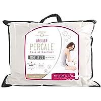My Lovely Bed - Oreiller Percale 100% Coton - 50x70 cm - Doux et Gonflant - Confort Moelleux - Anti acariens - Haut de Gamme