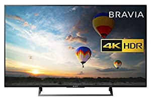 Sony Bravia KD49XE8004 49 inch TV (4K HDR Ultra HD, Android TV, X-Reality PRO, Triluminos Display, Youview and Freeview HD - Black (2017 Model)