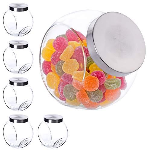 Bormioli Vorratsglas Set 6 teilig   17x12,5x18 cm   Dank dieser Bonboniere bewahren Sie die leckersten Süßigkeiten luftdicht und sicher auf