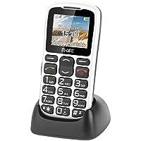 M-Life ML0639B 4,49 cm (1,77 Zoll) GSM Seniorenhandy (Großtasten, Freisprechfunktion, SOS Taste, Bluetooth, MP3/MP4 Player, FM-Radio) Weiß