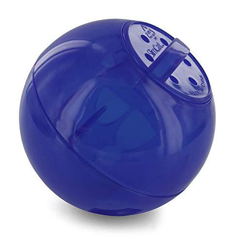 PetSafe SlimCat Snackball blau, für 150ml Trockenfutter, Futterball für Katzen gegen Übergewicht