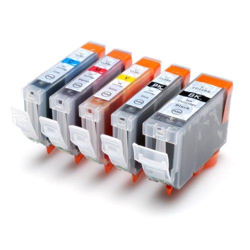 Canon Ersatz-farbe-tinte (5x für Canon PIXMA IP3300 IP3500 IX4000 IX5000 MP510 MP520 MX700 mit Chip)