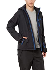 Ultrasport Everest - Chaqueta softshell alpina-outdoor de hombre con Ultraflow 10.000, color negro / azul, talla XL