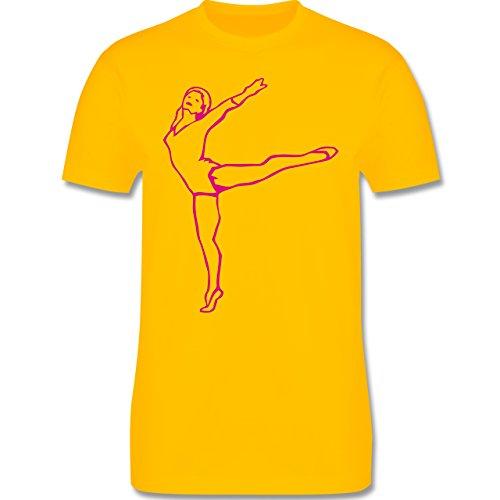 Wellness, Yoga & Co. - Rhythmische Sportgymnastik - Herren Premium T-Shirt Gelb