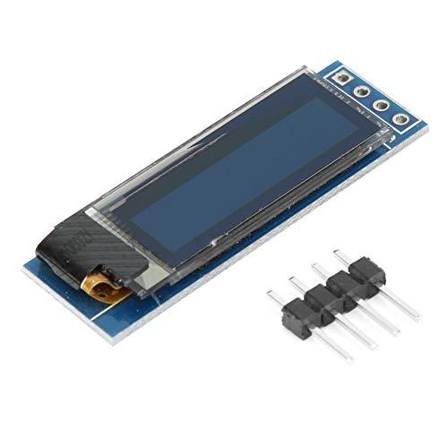 0,91 Zoll OLED-Anzeigemodul OLED-Bildschirmtreiber IIC-Schnittstelle 128 x 32 Weiß/Blau-Anzeigemodul 3,3~5 V(white)