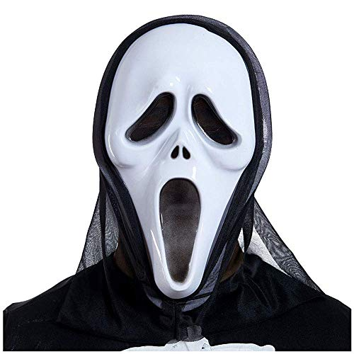 YaPin Halloween Ghost Maske Horror Kopfbedeckungen Devil Mask Screaming Lustige Scary Ghost Gesicht Skeleton Scream Mask