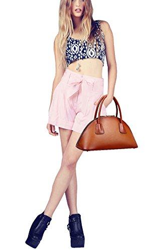 SAIERLONG Femmes Style Européen Et Américain Rouge-brun Première Couche De Cuir Sacs portés main Épaule Messenger Bag Cross Body Sac à main vintage Rouge-brun