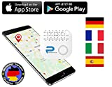 Phantiax Schlüsselfinder Check Weiß | Keyfinder mit Bluetooth App, GPS Ortung und Bewegungsmelder zum Finden von Schlüsseln oder Handy/Smartphone