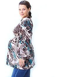 Maternidad Top, manga larga, BEIGE-BROWN, maternidad Túnica, algodón camiseta de maternidad, Mia, de maternidad embarazo Wear, apto para…