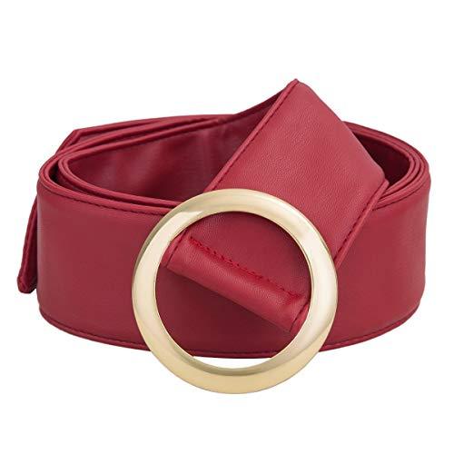 KYEYGWO Kleid Gürtel für Frauen, Einstellbarer breite Taille Gürtel für Damen Kleider mit Runde Schnalle (Schnalle Gürtel Kreis)