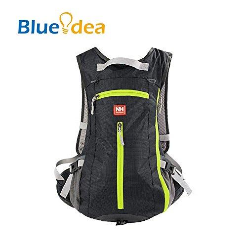 Blueidea® 15L viaggio un'escursione scalata Sacchetto ultra leggero zaino antipioggia Ultralight zaino della bicicletta Daypacks Ciclismo zaino Con Il Casco copertura della rete (Blu marino) Nero