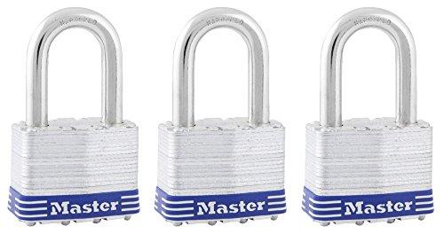 Master Lock 5trilfpf gleichschließende breit laminiert Pin Tumbler Vorhängeschlösser, 2, 3er Pack (Master Outdoor-sperren)