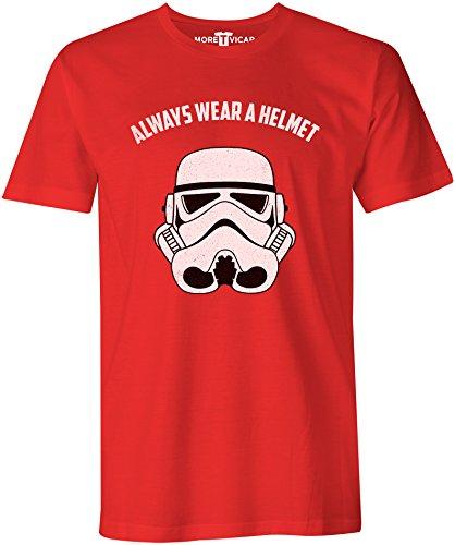 Always Wear A Helmet - Herren T Shirt Rot