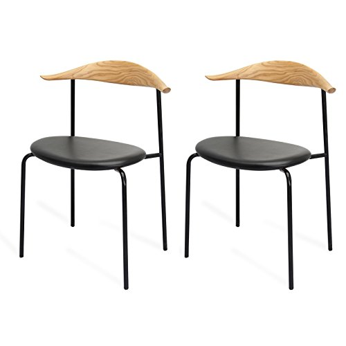 Price comparison product image MEELANO M21 Chair (Set of 2), Natural Wood