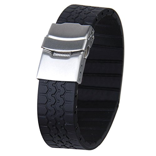 tire-grain-silicone-rubber-watch-strap-band-deployment-buckle-waterproof-20mm-black