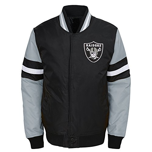 OuterStuff NFL Jungen Legendäry Farbblockierte Varsity Jacke, Jungen, Legendary Color Blocked Varsity Jacket, schwarz, Youth X-Large (18)