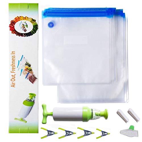 LSIKA-Z Sous Vide Bags Kit für Wancle,Anova Joule 20pcs 2 Größen BPA Free Vakuum Sous Vide Sealed Taschen (20 Sacchetti)