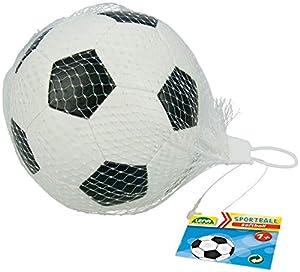 Lena 62177 Soft-Fußball - Balón de fútbol Deportivo, Color Blanco y Negro 13 cm, Softball para Jugar, Softfußball para Interior y Exterior, Suave Sportball Spielball para niños a Partir de 12 m