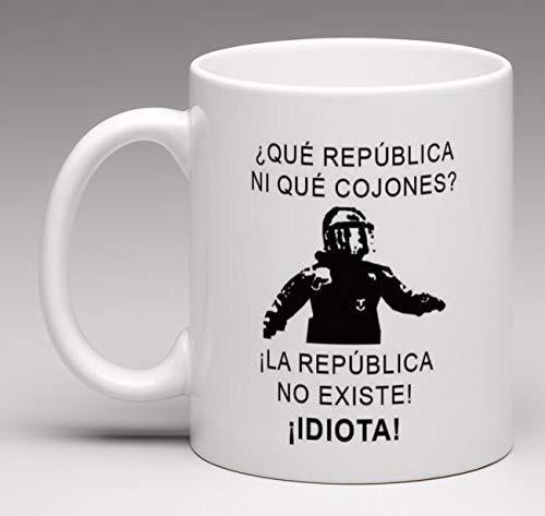 Taza Personalizada Frase de Moda mosso de escuadra La república no Existe Idiota Taza de Desayuno Ideal para Regalo españa cataluña