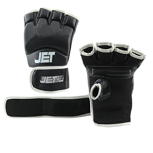 MMA Handschuhe Leder Jet fight & fitness ®–  Handarbeit – GRATIS EBOOK - Boxhandschuhe schützen Fäuste Abbildung 2