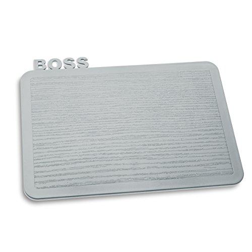 Koziol 3259632 Happy Boards Boss Planche à Découper Plastique Gris 16,9 x 22,7 x 0,3 cm