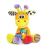 Playgro 40155 Stoffspielzeug Activity-Freund Giraffe, mehrfarbig