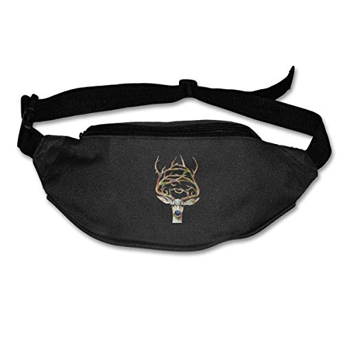 Waist Bag Fanny Pack Deer Pouch Running Belt Travel Pocket Outdoor Sports Camo Deer Fall