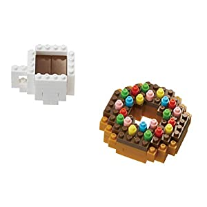 Nanoblock NBC246 Donut and Coffee Juguete, (Kawada NBC244)