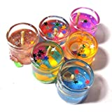 Luces Glass Tube Gell Candles Decoration for All Occasion Living Room Bedroom Wedding Diwali Pack of 6