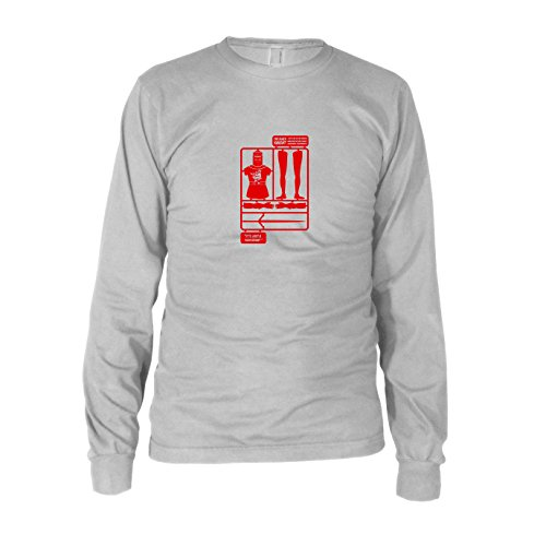 The Black Knight - Herren Langarm T-Shirt, Größe: XXL, Farbe: (Ritter Schwarze Heilige Gral Der Kostüme)