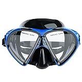 Keenso Occhiali da Snorkeling, Occhiali da Snorkeling da Uomo e Donna in Silicone Professionale Occhiali da Immersione Snorkel