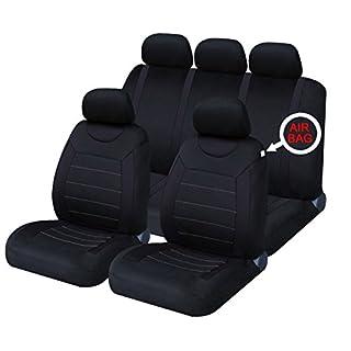 XtremeAuto XASC21 Sitzbezug, schwarz, Stück: 9