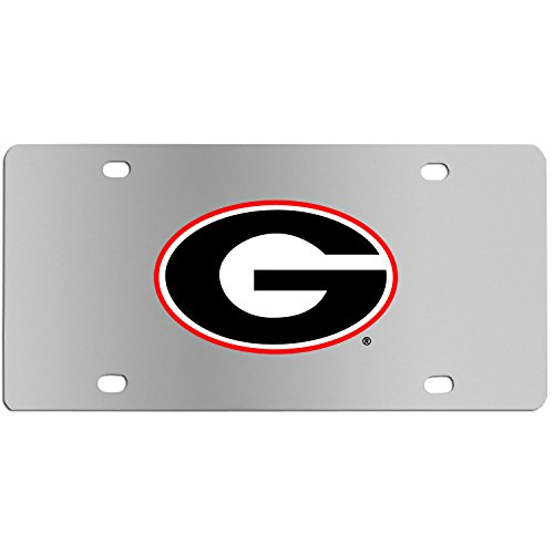 Siskiyou NCAA Georgia Bulldogs Steel License Plate with Digital Graphics