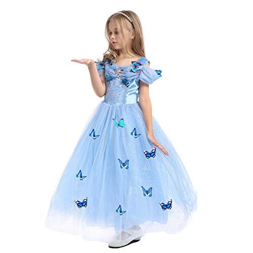 Kostüm Themen Geburtstag - LOLANTA Mädchen Prinzessin Kostüm Geburtstag Thema Party Kleid befestigen Butterfly Pins * 10