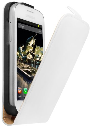 mumbi Flip Case Samsung Galaxy Trend Lite Tasche weiss