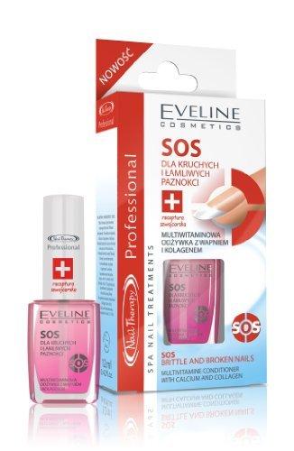 Eveline Cosmetics SPA Nail Therapie Behandlung Politur für schwache Nägel & Nagelhaut 12ml - Pink-nail-strengthener