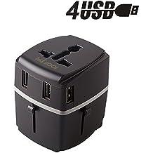 Adattatore Viaggio Universale Internazionale con 4 USB Porte Travel Adapter