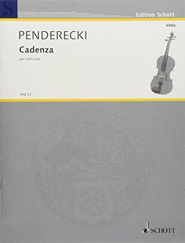 Cadenza: per viola sola. Viola. (Edition Schott)