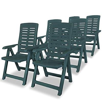 vidaXL Gartenstuhl Verstellbar Kunststoff Klappstuhl Stuhl Mehrere Auswahl