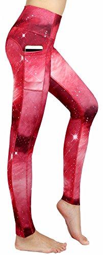 Munvot Schön Galaxy Printed Sport Leggings Damen Blickdichte Leggins Training Tights Hohe Taille Strumpfhose Bunt Leggins für damen mit...