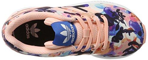 adidas Zx Flux, Scarpe da Ginnastica Bambina Multicolore (Haze Coral/haze Coral/ftwr White)