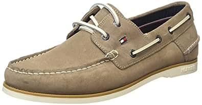 Tommy Hilfiger Deck 5B, Chaussures bateau homme, Beige (255), 46 EU