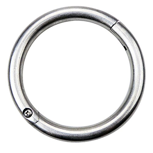 Bull Kuh Edelstahl Nase Ring Traktion Werkzeug 5