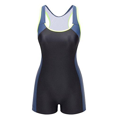 Lemef Damen Sport Bademode Verbindung Farben Badeanzug Knalliger Farbe Wettkampfanzug Schwimmanzug