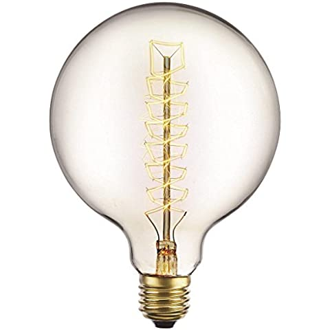 G95 40W Vintage lampadina a filamento E27 Edison Style - Spirale Globe