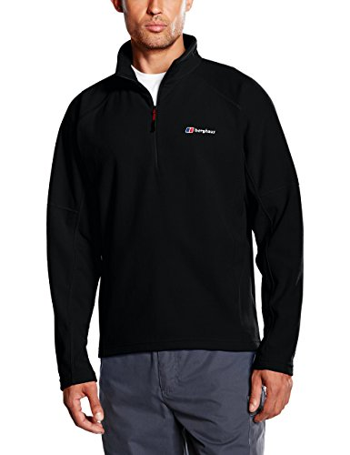Berghaus Herren Kilnsey Micro-Fleece-Pullover mit kurzem Reißverschluß Large schwarz
